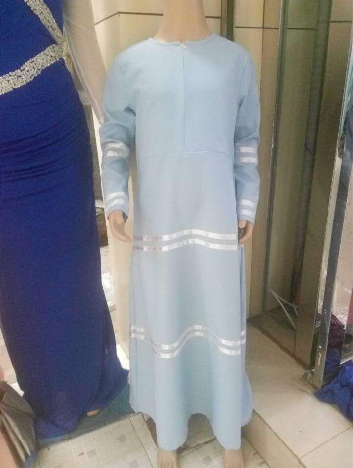10-16Years 2017 latest design muslim kids clothes fashion teenager young girl dress islamic turki muslim dress ramadan 6