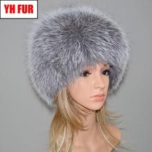 Women Winter Natural Real Fox Fur Hat Warm Soft Fluffy Genuine Fox Fur Cap Luxur