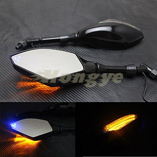 RPMMOTOR Motorcycle Indicator Rearview Side Mirrors & Integrated LED Turn Signals Fit For Street bikes Cruiser Scooters New
