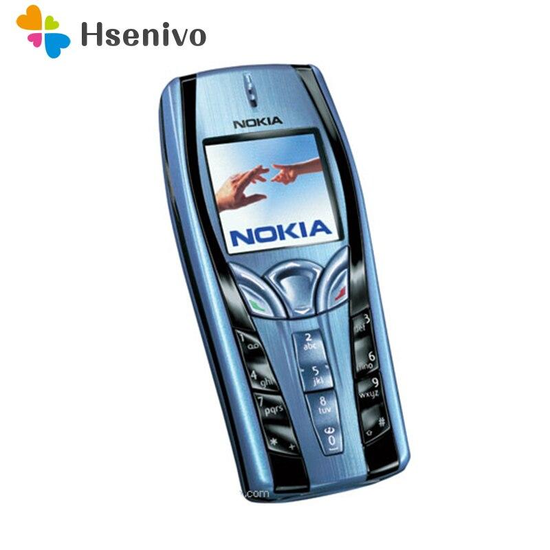 7250 D'origine Nokia 7250 Mobile Téléphone Vieux Téléphone Pas Cher bleu couleur rénové livraison gratuite