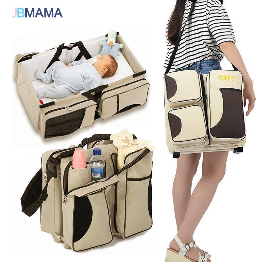 Multifunctional folding baby bed portable bag large capacity mummy traveling