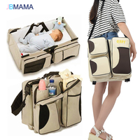 Multifunctional Folding Baby Bed Portable Baby Bag Large Capacity Mummy Bag Portable Traveling Bed