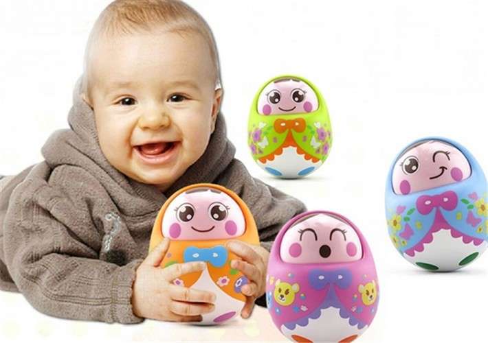 2016 New 5 Pieces A Lot Music Nodding Tumbler Roly poly Toys Baby Educational Funny Toy