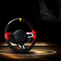 Sew on genuine leather car steering wheel cover Car accessories for Ford mustang 2015 2016 2017 2018 2019