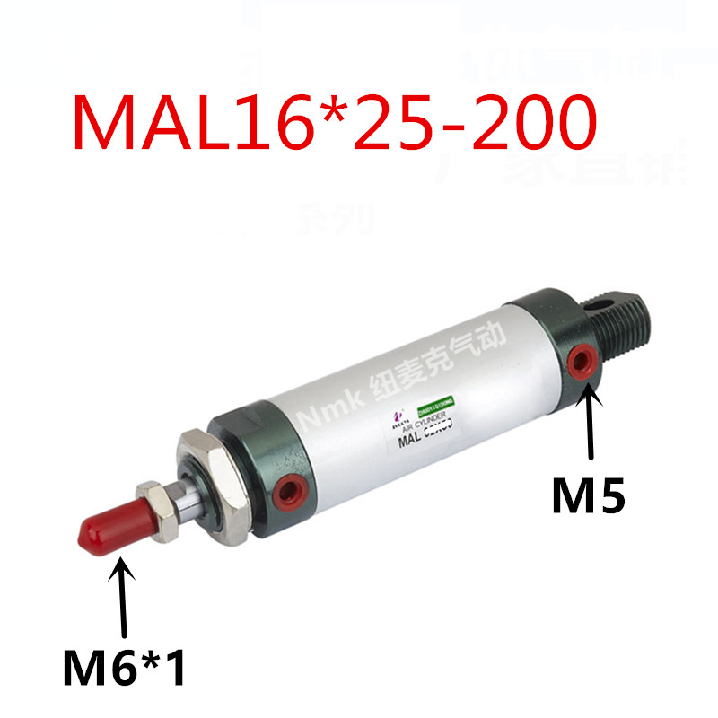 Small aluminum alloy mini cylinder bore MAL16 * 25/50/75/100/125/150/175/200-S-CA mal50 25 s ca mal50 50 s ca mal50 75 s ca mal50 100 s ca airtac aluminum alloy mini cylinder mal series