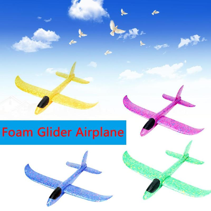 37cm Foam Glider Rc Airplane Hand Throw Verisimilitude Airplane Epp Outdoor Launch Flexible Avion Kids Gift Free Fly Aeromodelo