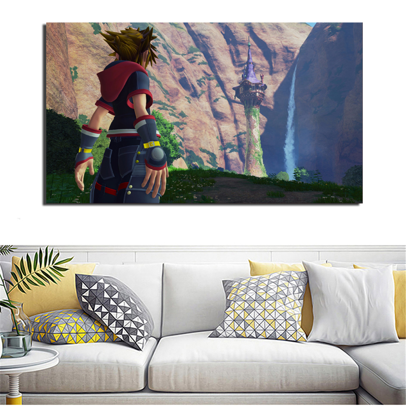 kingdom Hearts 3 Tangled HD Wall Art Canvas Poster And Print Canvas Painting Decorative Pictures For Bedroom Modern Home Decor in Painting Calligraphy from Home Garden