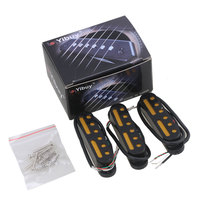 Yibuy Black 48 50 52mm Electric Guitar Pickup Four Wire Single Coil Pickup To Humbucker Pack