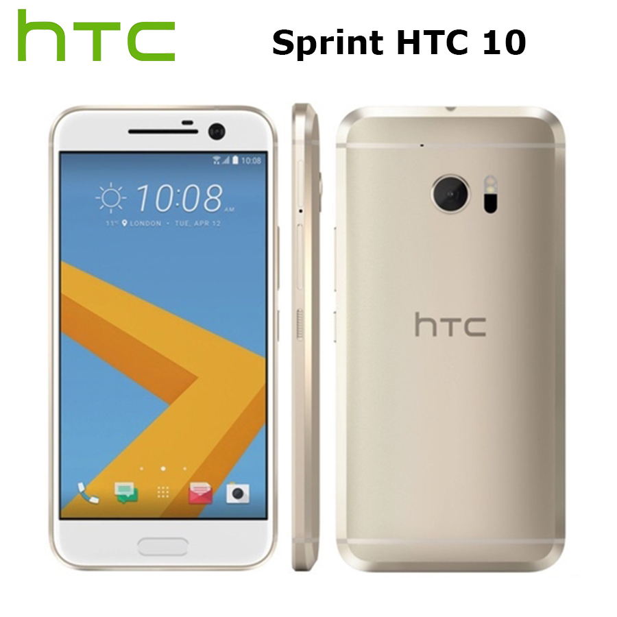 Sprint Version HTC 10 M10 LTE Mobile Phone 5.2inch 4GB RAM 32GB ROM Snapdragon820 QuadCore 12MP Camera NFC Fingerprint Callphone image