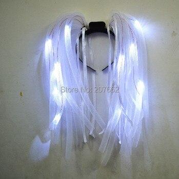 Бесплатная светодио дный доставка белый светодиодный вечерние свет мигающий Вечеринка Rave Noodle Свадебная повязка Rave костюм платье для девив... >> YIWU CITY JUYE  ELECTRONIC GLOW TOYS FACTORY