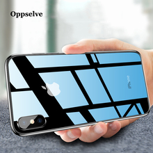 Oppselve Phone Case For iPhone XR XS Max X 10 8 7 Clear Tempered Glass 6 6s Plus Luxury Silicone Coque