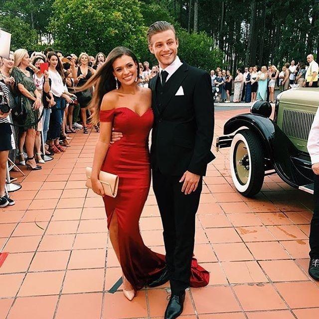 ãPromoteCelebrity Dresses Evening-Gowns Satin Mermaid Cheap Red Formal Sweep-Train Vestidos Splitⁿ