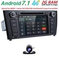 71 Din Android 7.1 Quad Core Car Radio GPS Navi Car DVD Player For BMW 1 Serie E81 E82 E87 E88 I20 2004 2011 Head Unit BT Wifi