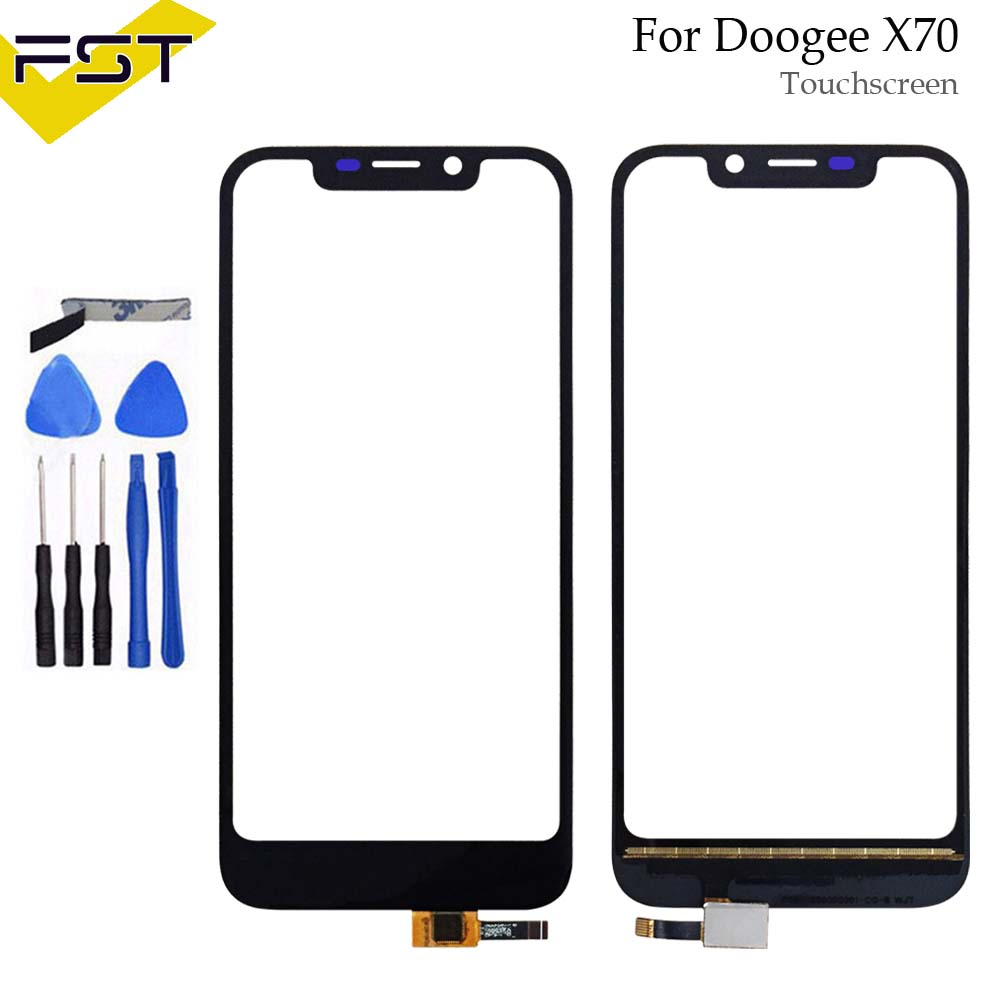 5.5''Black Touch Screen For Doogee X70 Perfect Repair Parts Touch Panel Sensor Glass Lens For Doogee X70 Phone+Tools