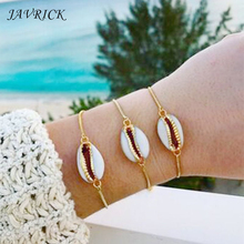 Handmade Bohemia Ladies Bracelet Natural White Cowrie Shells Jewelry For Women