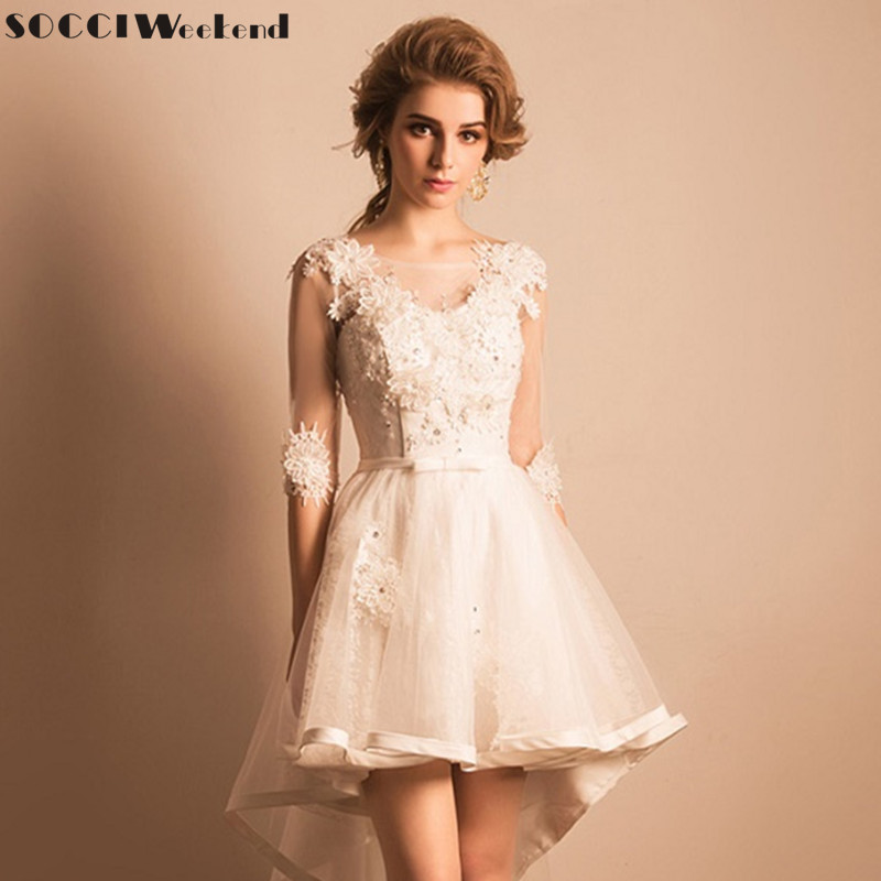 Socci weekend 2017 princess bridal wedding dresses short for Wedding party dresses 2017