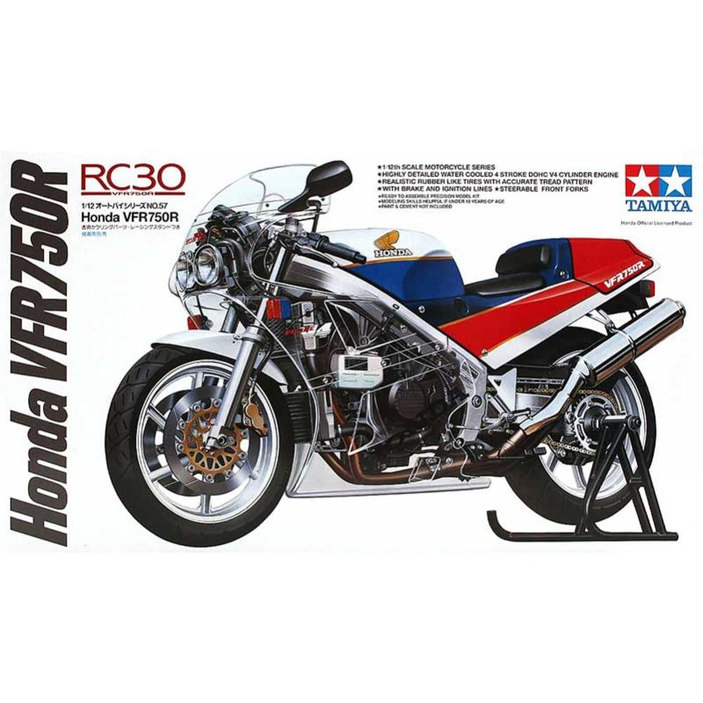 где купить OHS Tamiya 14057 1/12 VFR750R Scale Assembly Motorcycle Model Building Kits oh по лучшей цене