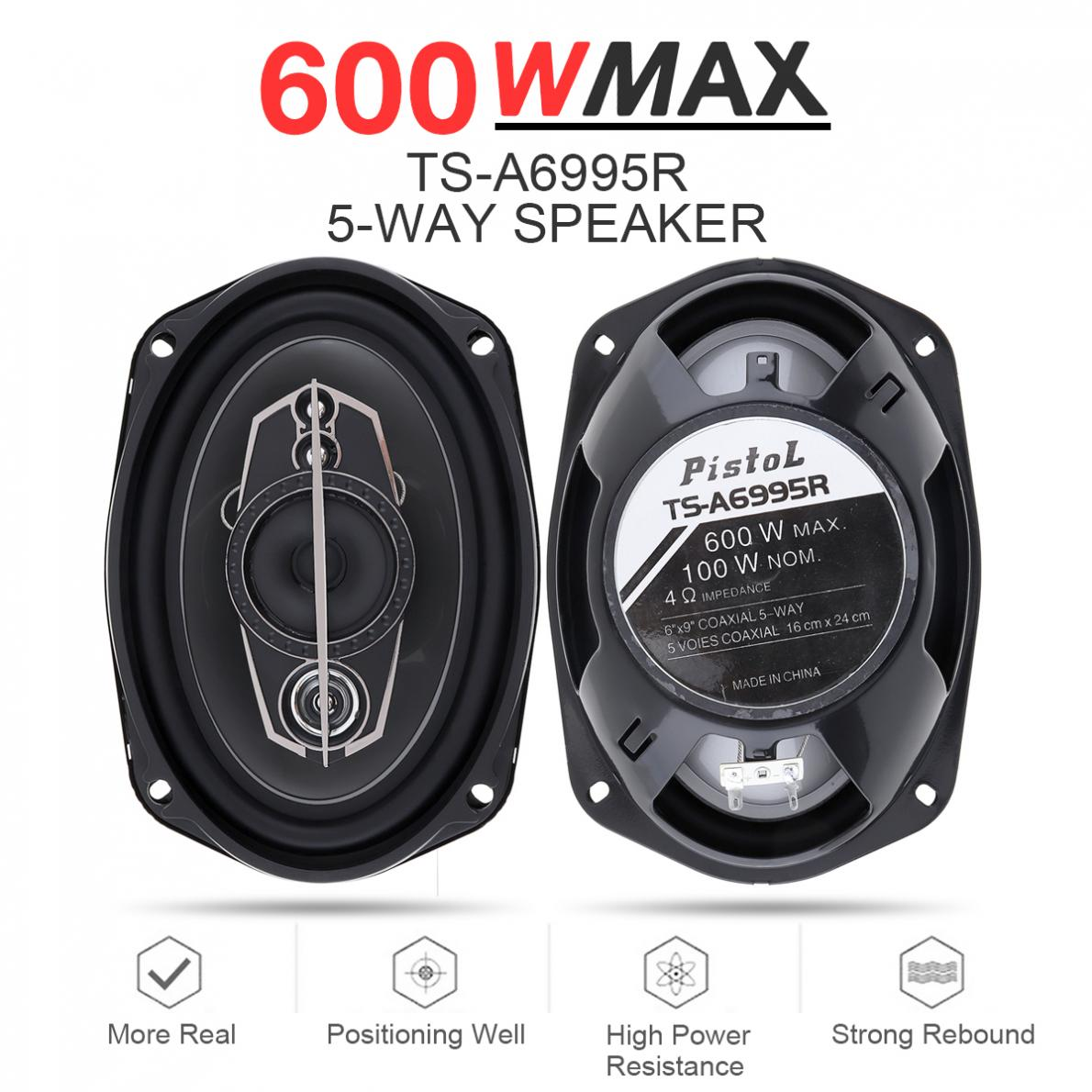 5 Way 6X9 Inch 600W Car Coaxial Hifi Speakers Auto Music Stereo Full Range Frequency Speaker Non-Destructive Installation