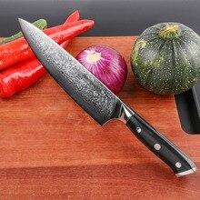 Mokithand 8 дюймов Дамасские поварские ножи острые VG10 японский 67 слой кухонный нож Профессиональный Японский стальной нож с G10 ручкой