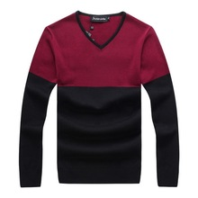 RICHARDROGER  New Men's Long-sleeved Sweater Slim V-neck 2017 Autumn And Winter Sweater 071