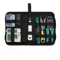 Multi function LAN Network Tool Kit Network Installation Tools Network Cable Tester Crimper Stripper Tool Bag Set