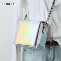 Redalex Mini Laser Women Bags Clutch Phone Bag Small Square Bag Women Shoulder Messenger Bag Fashion