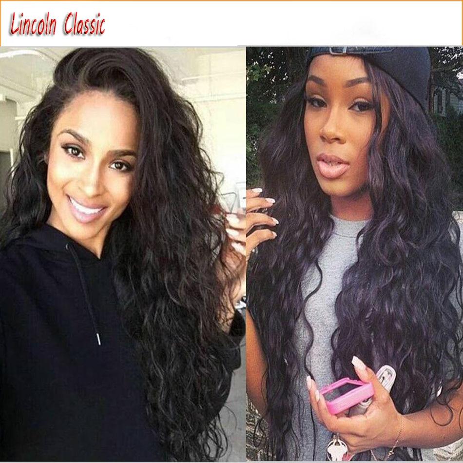 Beautiful Natural Long Loose Wave Glueless Full Lace Human font b Hair b font Wigs Brazilian
