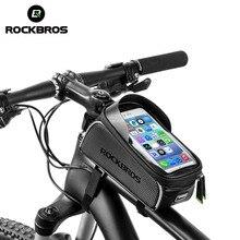 MTB велосипед сумка 6 «сенсорный экран велосипеда подседельная сумка Велоспорт Топ Водонепроницаемая труба сумка чехол для телефона велосипед аксессуары