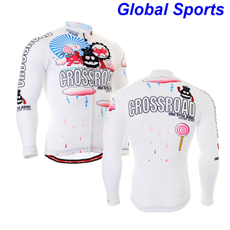 2017 Brand zipper Up Cycling Jacket Bike Riding Top Clothing Windproof Waterproof Coat Mens Long Sleeve Jersey