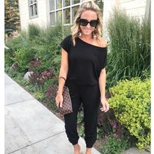 New Fashion Summer 2019 Off Shoulder Sexy Body Rompers Womens Jumpsuit Casual Overalls for Women Elegant Long Female