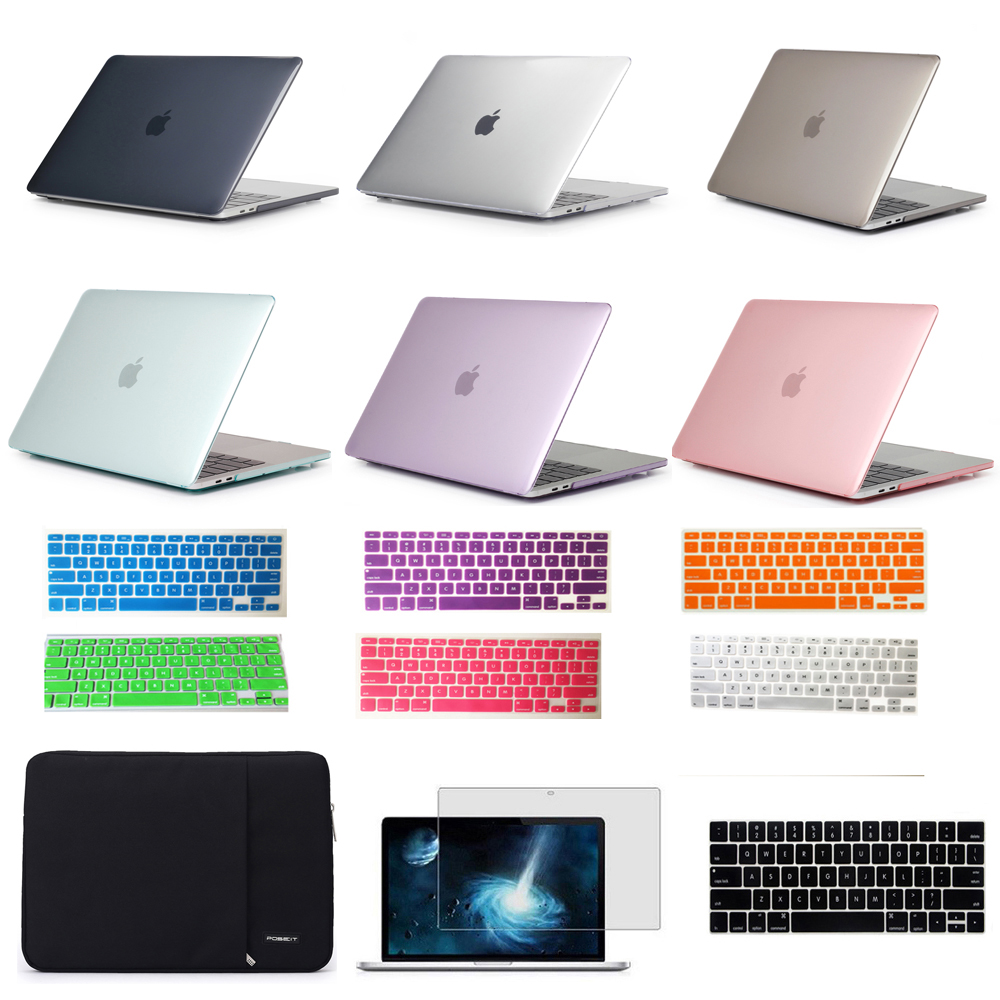 Laptop hard shell cover +keyboard cover for Apple MacBook air 11 13.3 inch pro retina 15 12 inch Computer sleeve protector us eu uk rainbow silicon keyboard cover for apple macbook air 13 pro 15 retina 17 inch protector for imac 21 5 wireless keyboard