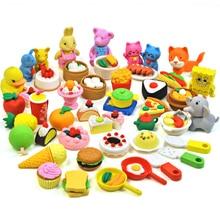 Novelty Cute Erasers For Kids Animal Food Eraser Kawaii Cartoon Rubber Eraser Set Creative Gifts For Kids