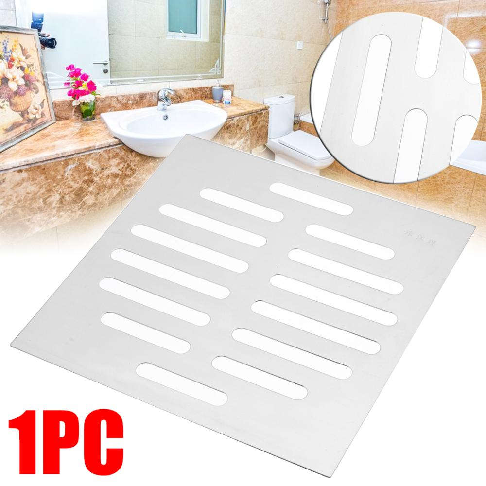 """6""""/15cm Rustproof Bathroom Drain Cover Stainless Steel Floor Drain Linear for Kitchen Shower Supplies Silver Filter Strainer"""