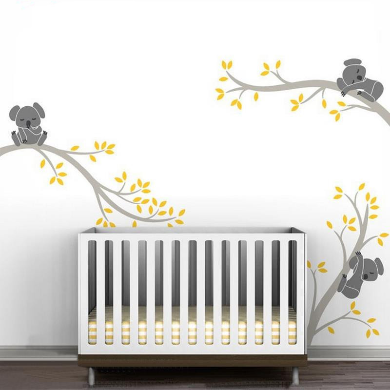 Aliexpress.com : Buy A002 Oversize Removable Koala Tree Branche DIY Wall  Decals Wall Sticker Nursery Vinyl Baby Wall Stickers Wall Art For Kids  Rooms From ... Part 38