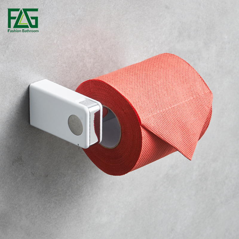 Paper Holders with White ABS Shelf & Stainless Steel Paper Roll Holder Toilet Paper Holder Tissue Holder Bathroom Accessories 2016 newest verto toilet paper holder bathroom abs surface double tissue accessories quality wc soap holder can hold phone z3