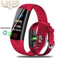 LIGE Смарт-часы женские IP68 водонепроницаемый спортивный браслет умный фитнес-браслет кровяное давление монитор сердечного ритма умные часы