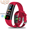 Reloj inteligente LIGE para mujer IP68 pulsera deportiva a prueba de agua inteligente rastreador de Fitness presión arterial Monitor de ritmo cardíaco reloj inteligente