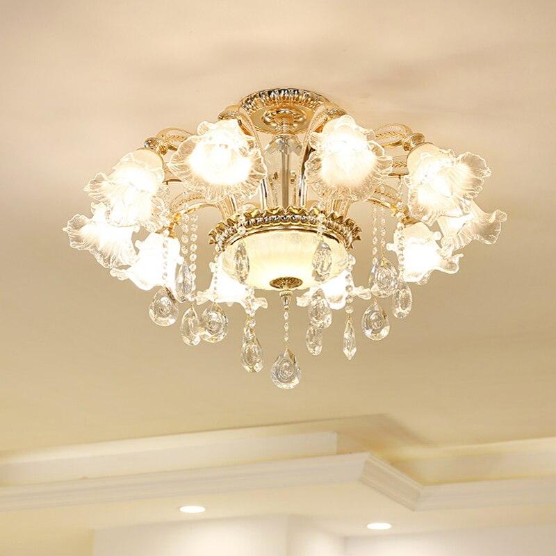 European luxury crystal living room lights high-end ceiling lamp modern simple master bedroom lights Jane Europe creative