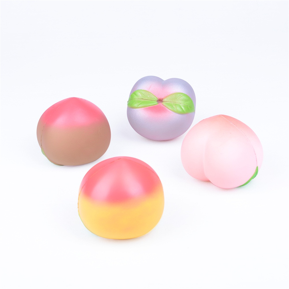 1PC 10CM Jumbo kawaii Squishy Slow Rising Peach Toy squishies Bread Gag Pressure Release Toy ...