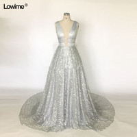New Unique Fabric Sexy V neck Bling Dress Evening Party Long Prom Evening Dresses Glitter Vestidos De Festa