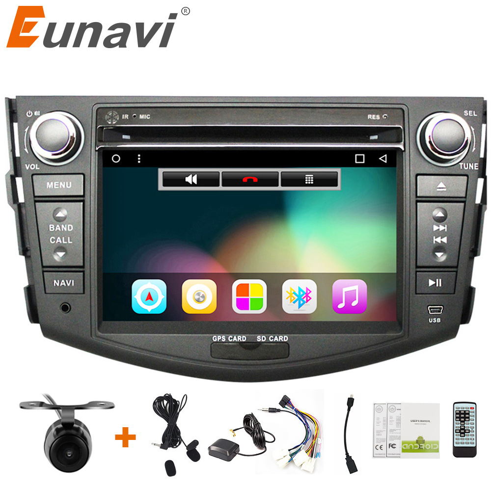 Eunavi 7'' 2 Din Quad core Android 7.1 Car DVD Radio Player GPS Navigation for Toyota rav 4 RAV4 Audio Stereo 2din RDS Wifi BT