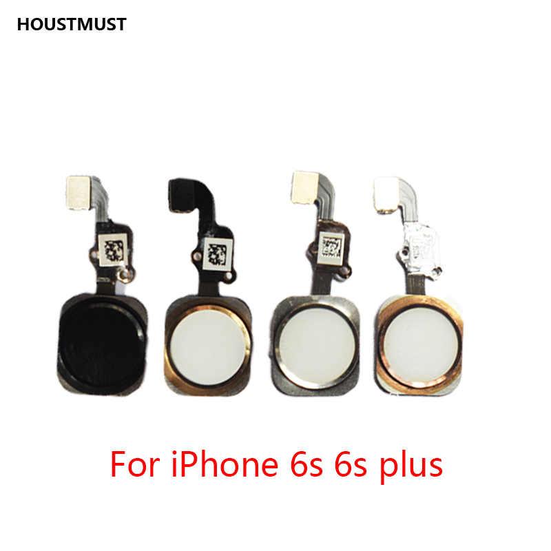 Houstsure 1 قطعة زر المنزل مع الكابلات المرنة آيفون 5 5C 5s 6 6Plus 6 S plus 7 7Plus الرئيسية زر فليكس الجمعية