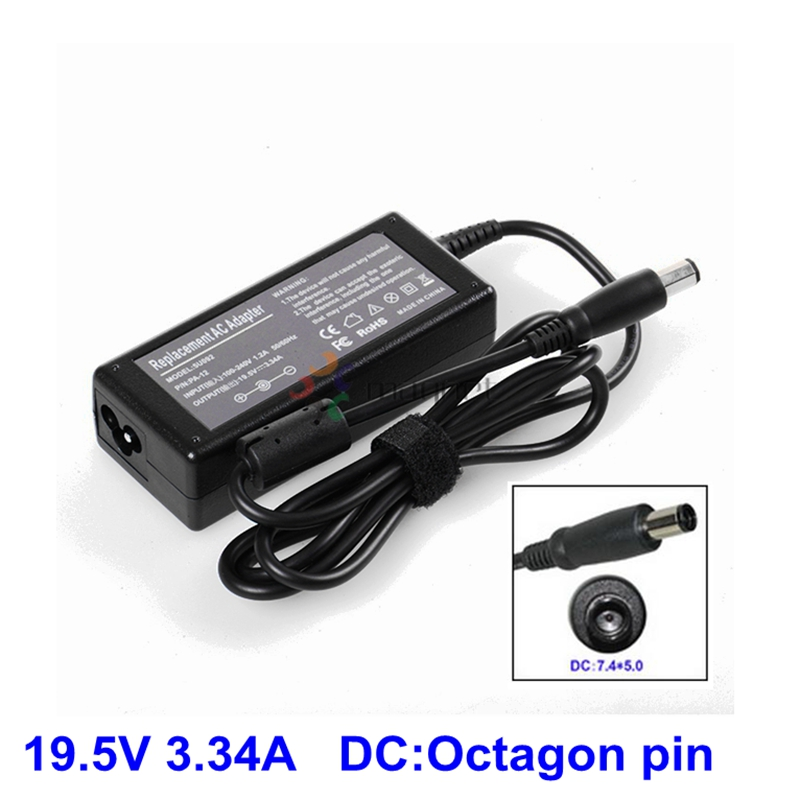 FOR DELL INSPIRON 3.34A LAPTOP CHARGER OCTAGONAL PIN 1545 PA-21 19.5V 65W
