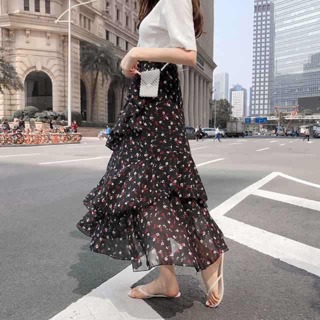 Korean Bohemian High Waist Skirt