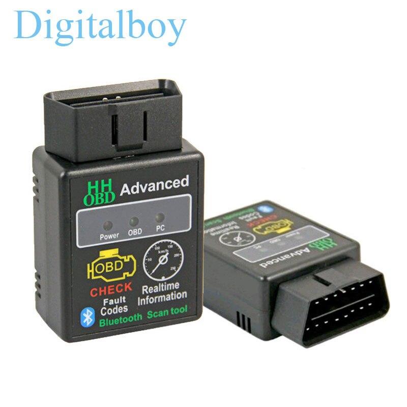 Prix pour HH OBD ELM327 Bluetooth OBD2 OBDII CAN BUS Check Engine Car Auto Diagnostic Scanner Outil Interface Adaptateur Pour Android PC