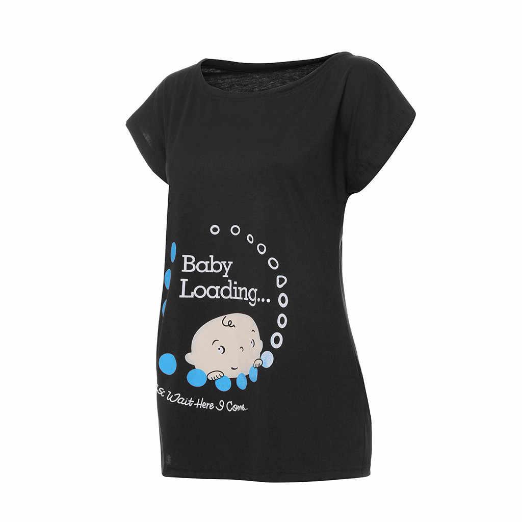 MUQGEW одежда Беременность женщины Беременность милый ребенок Печатный Плюс Размер Хлопок забавная футболка Материнство Леди Топы для фотосессий