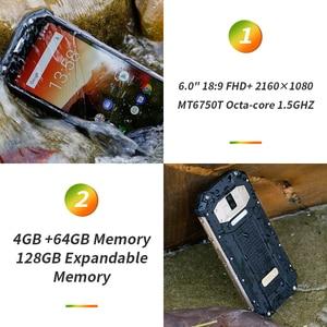 """Image 3 - OUKITEL WP2 IP68 방수 NFC 스마트 폰 6.0 """"18:9 MT6750T Octa 코어 4GB RAM 64GB ROM 10000mAh 지문 휴대 전화"""