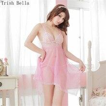 transparent Lace Splicing Net yarn Camisole Irregular Pajamas dew sexy lingerie erotic underwear lenceria langerie babydoll