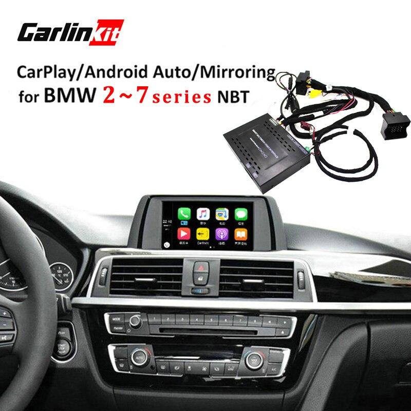 Module d'interface de caméra de recul Carlinkit pour BMW série 2/3/4/5/7 avec système NBT avec miroir Carplay