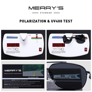 Image 5 - MERRYS Men Classic Sunglasses Aviation Frame HD Polarized Shades For Driving Sun Glasses UV400 Protection S8173